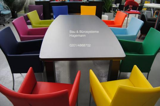 Kunstlederstuhle Moderne Banke Rote Blaue Grune Weisse